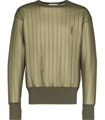 ambush padded sweatshirt - green