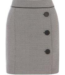 monochrome jacquard skirt