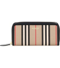 burberry ellerby stripe zip around wallet