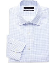 saks fifth avenue men's slim-fit gridlock dress shirt - white - size 15 32-33