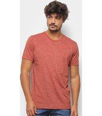 camiseta aleatory estampada masculina - masculino
