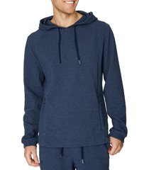 men's 7 diamonds restoration hoodie, size small - blue