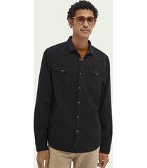 scotch & soda western-style cotton denim shirt