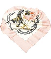 hermes brides de gala silk scarf white, multi sz: