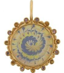spiral tie dye sapphire amulet