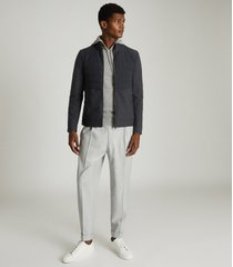 reiss meadow - hybrid funnel neck jacket in navy, mens, size xxl