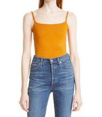 women's simon miller ano bodysuit, size x-large/xx-large - orange