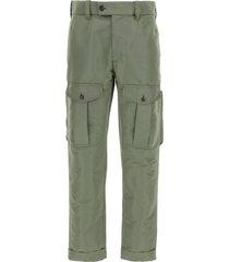 alexander mcqueen polyfaille cargo trousers