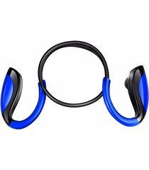 audífonos bluetooth estéreo hd manos libres inalámbricos, en el oído del deporte inalámbrico auricular inalámbrico manos libres super bass música estéreo con micrófono(azul)