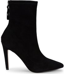 amelia stretch suede booties