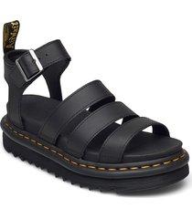 blaire shoes summer shoes flat sandals svart dr. martens