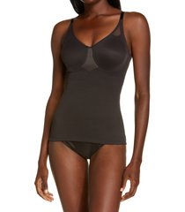 women's miraclesuit sheer underwire shaper camisole, size 40d - black