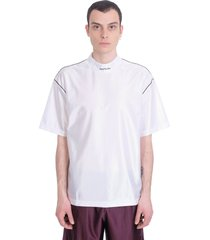 acne studios exco piping t-shirt in white polyester
