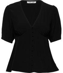 petunia ss blouse 10056 blouses short-sleeved svart samsøe samsøe