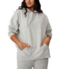 cotton on trendy plus size dad oversized hoodie