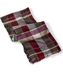 vibrant plaid scarf