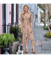 lilac spring dress - petites