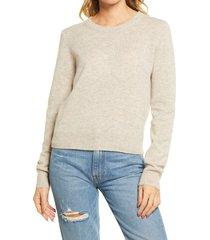 women's reformation cashmere sweater, size medium - beige
