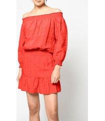 nicole miller women's off shoulder dress