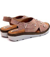 sandalia de cuero nude valentia calzados brenda 480