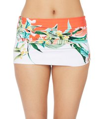 women's trina turk costa de prata convertible bikini skirt bottom