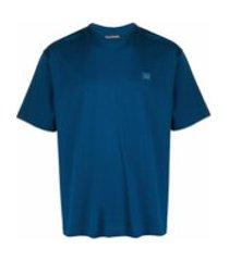 acne studios camiseta oversized com estampa de face - azul