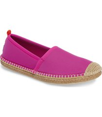 women's sea star beachwear beachcomber espadrille water shoe, size 6 m - pink