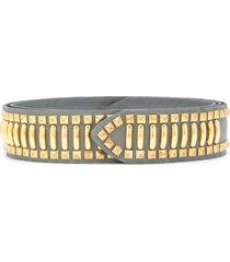 alberta ferretti studded belt - grey