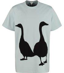 loewe contrasting intarsia cotton t-shirt