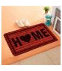 capacho carpet home vermelho único