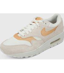 tenis lifestyle beige-blanco-naranja nike air max 1 se