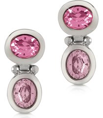 forzieri designer earrings, pink crystal earrings