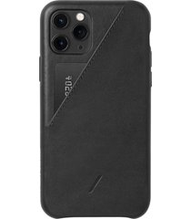 native union clic card iphone case - black - iphone 11 pro