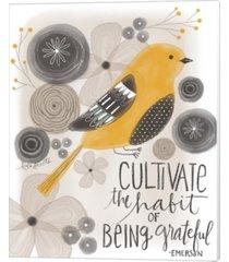 grateful emerson quote by katie doucette canvas art