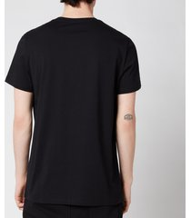 balmain men's printed t-shirt - black - xl