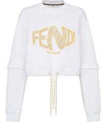 x sarah coleman fisheye logo sweatshirt