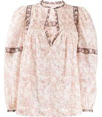 isabel marant étoile violette floral print blouse - neutrals