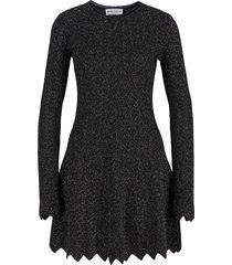 metallic knitted dress