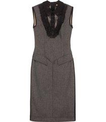 fendi wool midi sheath-dress