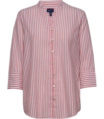 d2. pp seersucker shirt blus långärmad rosa gant