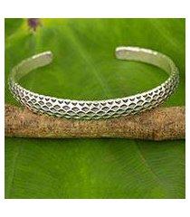 silver cuff bracelet, 'karen snake' (thailand)