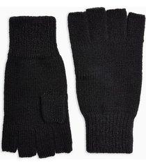 mens black fingerless gloves