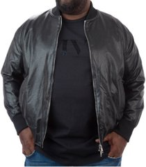 men's big & tall mvp collections perforated faux leather bomber jacket