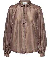 enola sleeve shirt blus långärmad brun designers, remix