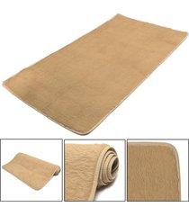mat moda dormitorio estera del piso mullido manta antideslizante salón del hogar del amortiguador alfombra negro - camel light