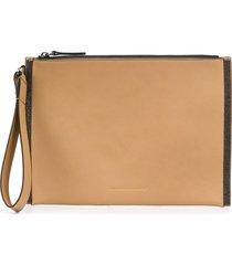 brunello cucinelli wrist strap clutch bag - neutrals
