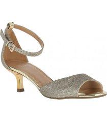 sandalia champagne dorado we love shoes