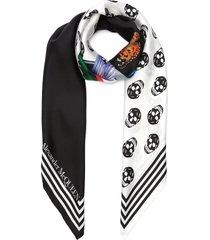fun fonts twill foulard scarf