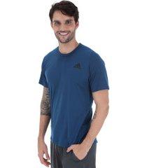 camiseta adidas freelift sport prime climalite - masculina - azul escuro
