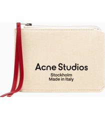 acne studios malachite canvas small wallet slgs000133